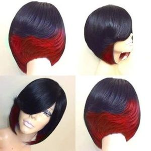 Hair Straight Bob Wigs Synthetic Hair
